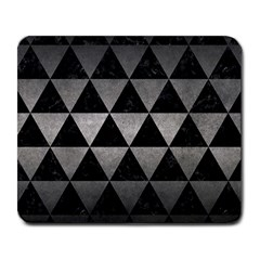 Triangle3 Black Marble & Gray Metal 1 Large Mousepads