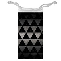 Triangle3 Black Marble & Gray Metal 1 Jewelry Bag