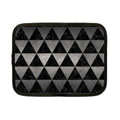 Triangle3 Black Marble & Gray Metal 1 Netbook Case (small)