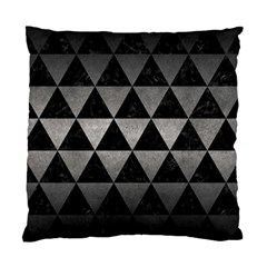 Triangle3 Black Marble & Gray Metal 1 Standard Cushion Case (one Side)