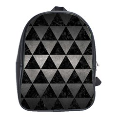 Triangle3 Black Marble & Gray Metal 1 School Bag (large)