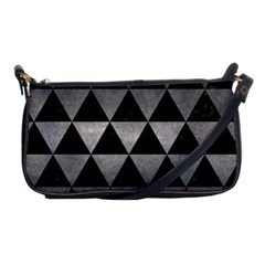 Triangle3 Black Marble & Gray Metal 1 Shoulder Clutch Bags