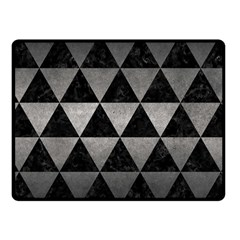 Triangle3 Black Marble & Gray Metal 1 Fleece Blanket (small)