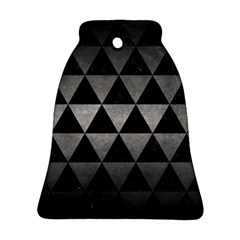 Triangle3 Black Marble & Gray Metal 1 Ornament (bell)
