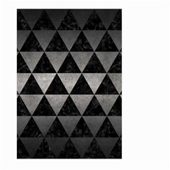 Triangle3 Black Marble & Gray Metal 1 Large Garden Flag (two Sides)