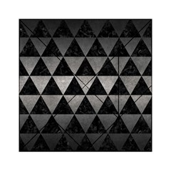 Triangle3 Black Marble & Gray Metal 1 Acrylic Tangram Puzzle (6  X 6 )