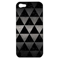 Triangle3 Black Marble & Gray Metal 1 Apple Iphone 5 Hardshell Case