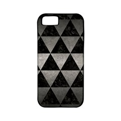 Triangle3 Black Marble & Gray Metal 1 Apple Iphone 5 Classic Hardshell Case (pc+silicone)
