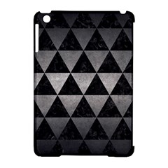 Triangle3 Black Marble & Gray Metal 1 Apple Ipad Mini Hardshell Case (compatible With Smart Cover)