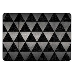 Triangle3 Black Marble & Gray Metal 1 Samsung Galaxy Tab 8 9  P7300 Flip Case