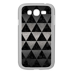 Triangle3 Black Marble & Gray Metal 1 Samsung Galaxy Grand Duos I9082 Case (white)