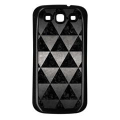 Triangle3 Black Marble & Gray Metal 1 Samsung Galaxy S3 Back Case (black)