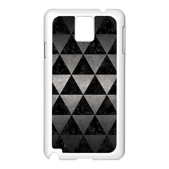 Triangle3 Black Marble & Gray Metal 1 Samsung Galaxy Note 3 N9005 Case (white)