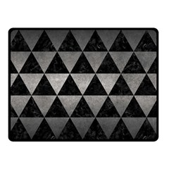 Triangle3 Black Marble & Gray Metal 1 Double Sided Fleece Blanket (small)