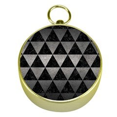 Triangle3 Black Marble & Gray Metal 1 Gold Compasses