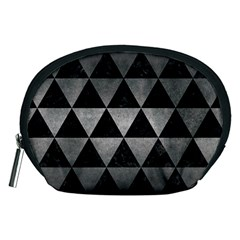 Triangle3 Black Marble & Gray Metal 1 Accessory Pouches (medium)
