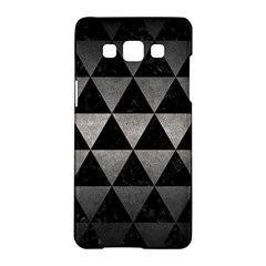 Triangle3 Black Marble & Gray Metal 1 Samsung Galaxy A5 Hardshell Case