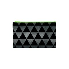 Triangle3 Black Marble & Gray Metal 1 Cosmetic Bag (xs)