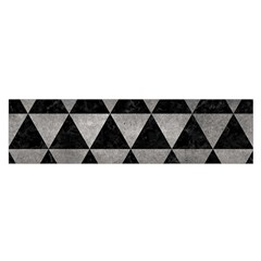 Triangle3 Black Marble & Gray Metal 1 Satin Scarf (oblong)
