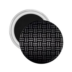 Woven1 Black Marble & Gray Metal 1 2 25  Magnets