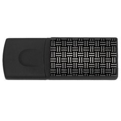 Woven1 Black Marble & Gray Metal 1 Rectangular Usb Flash Drive
