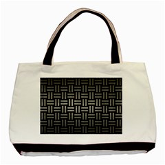 Woven1 Black Marble & Gray Metal 1 Basic Tote Bag (two Sides)