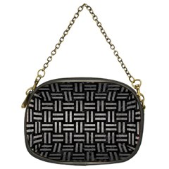Woven1 Black Marble & Gray Metal 1 Chain Purses (one Side)