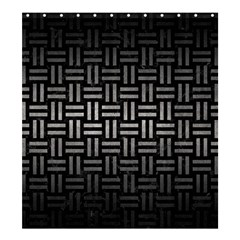 Woven1 Black Marble & Gray Metal 1 Shower Curtain 66  X 72  (large)