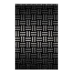 Woven1 Black Marble & Gray Metal 1 Shower Curtain 48  X 72  (small)