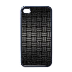 Woven1 Black Marble & Gray Metal 1 Apple Iphone 4 Case (black)