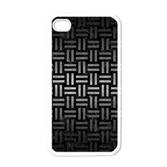 Woven1 Black Marble & Gray Metal 1 Apple Iphone 4 Case (white)