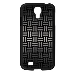 Woven1 Black Marble & Gray Metal 1 Samsung Galaxy S4 I9500/ I9505 Case (black)