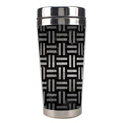 Woven1 Black Marble & Gray Metal 1 Stainless Steel Travel Tumblers
