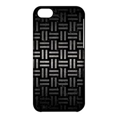 Woven1 Black Marble & Gray Metal 1 Apple Iphone 5c Hardshell Case