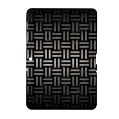 Woven1 Black Marble & Gray Metal 1 Samsung Galaxy Tab 2 (10 1 ) P5100 Hardshell Case