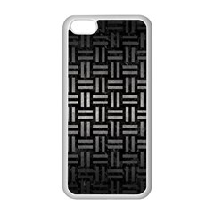 Woven1 Black Marble & Gray Metal 1 Apple Iphone 5c Seamless Case (white)