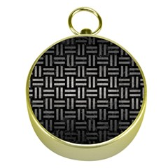 Woven1 Black Marble & Gray Metal 1 Gold Compasses