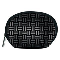 Woven1 Black Marble & Gray Metal 1 Accessory Pouches (medium)