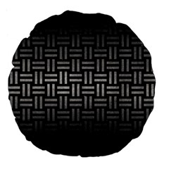 Woven1 Black Marble & Gray Metal 1 Large 18  Premium Flano Round Cushions