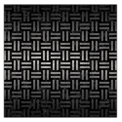 Woven1 Black Marble & Gray Metal 1 Large Satin Scarf (square)