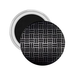 Woven1 Black Marble & Gray Metal 1 (r) 2 25  Magnets