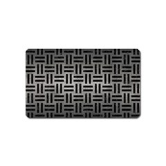 Woven1 Black Marble & Gray Metal 1 (r) Magnet (name Card)