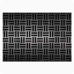 Woven1 Black Marble & Gray Metal 1 (r) Large Glasses Cloth