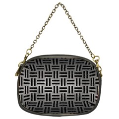 Woven1 Black Marble & Gray Metal 1 (r) Chain Purses (two Sides)