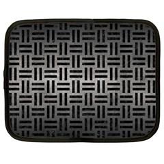 Woven1 Black Marble & Gray Metal 1 (r) Netbook Case (xl)