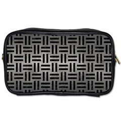 Woven1 Black Marble & Gray Metal 1 (r) Toiletries Bags