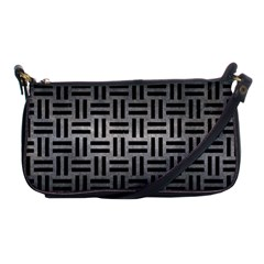 Woven1 Black Marble & Gray Metal 1 (r) Shoulder Clutch Bags