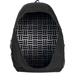 Woven1 Black Marble & Gray Metal 1 (r) Backpack Bag
