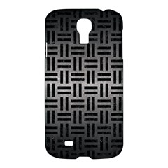 Woven1 Black Marble & Gray Metal 1 (r) Samsung Galaxy S4 I9500/i9505 Hardshell Case
