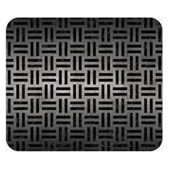 Woven1 Black Marble & Gray Metal 1 (r) Double Sided Flano Blanket (small)